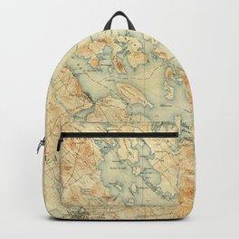 Vintage Map of Lake Winnipesaukee (1907) Backpack