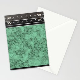 Marble . green marble pattern . Stationery Cards