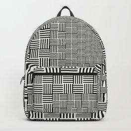 Black & White Basket Weave Backpack