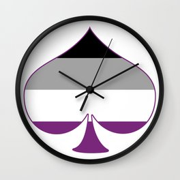 Asexual Spade Wall Clock