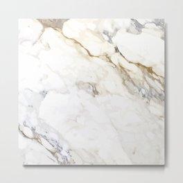 White Marble Metal Print