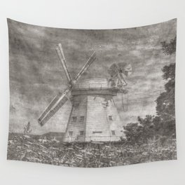 Windmill Of Yesteryear  Wall Tapestry