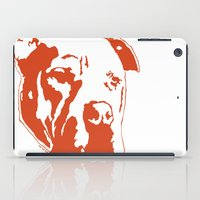 pitbull iPad Cases featuring COACH - ORANGE by Kirk Scott