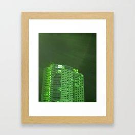 Green latern Framed Art Print