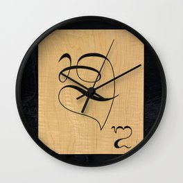 Balinese board game tile Wall Clock