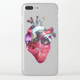 Superstar Heart (on grey) Clear iPhone Case