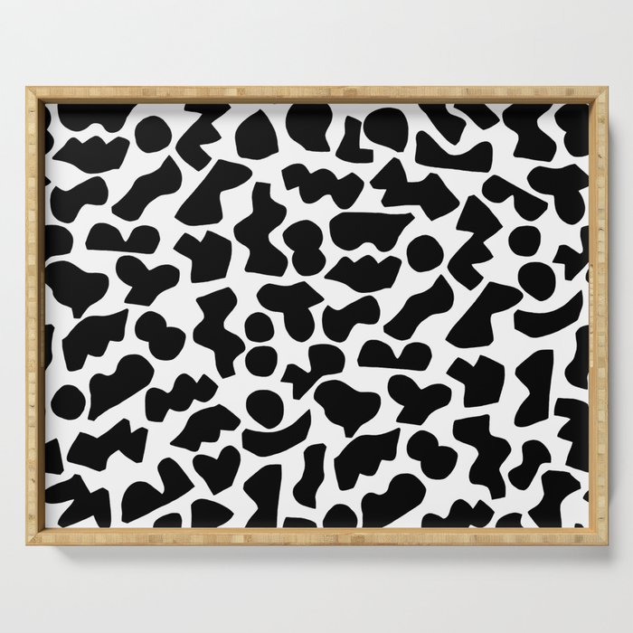 Shapes, Black and White Serving Tray