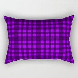 Purple plaid Rectangular Pillow