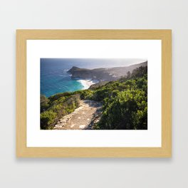 View of Cape Point in Cape Town, South Africa Framed Art Print
