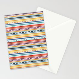 Multicolored lines and dots Stationery Cards