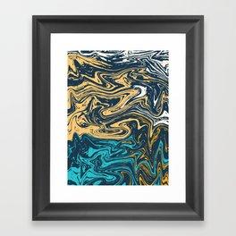 Marble Effect Framed Art Print