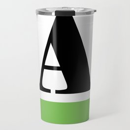 Monogram Letter A (color block) Travel Mug