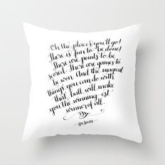 Oh, The Places You'll Go! Throw Pillow