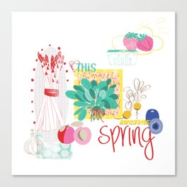 Spring Food Canvas Print