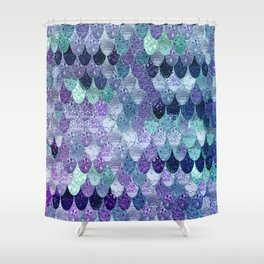 SUMMER MERMAID  Purple & Mint by Monika Strigel Shower Curtain