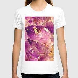 Golden Gleaming Amethyst Crystal T-shirt