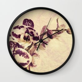 Orchids 2 Wall Clock