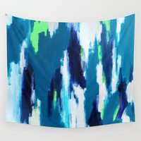 ikat Wall Tapestries featuring Ikat by kristinesarleyart