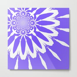 The Modern Flower Periwinkle Lavender Metal Print