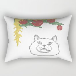 Heavy breathing  cat Rectangular Pillow