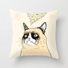 Grumpy Pizza Love Throw Pillow