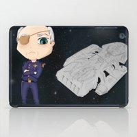 battlestar galactica iPad Cases featuring Colonel Tigh 2   Battlestar Galactica by The Minecrafteers