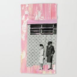 The Pink House Beach Towel