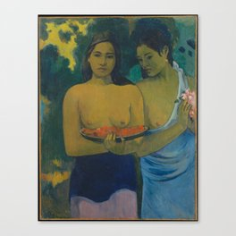 Paul Gauguin - Two Tahitian Women (1899) Canvas Print