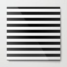 Black and White Stripped Pattern | Minimalist Metal Print