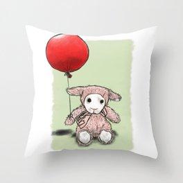My first balloon Throw Pillow