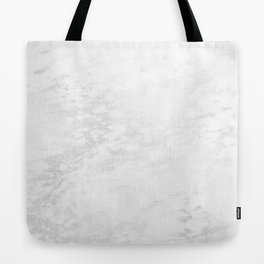 White Marble Silver Glitter Gray Tote Bag