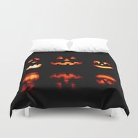 halloween Duvet Covers featuring haLLoween by 2sweet4words Designs