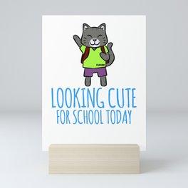 First class school to learn cat meow Mini Art Print