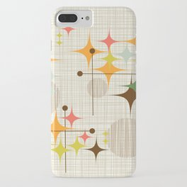Mid Century Modern Starbursts and Globes 3a iPhone Case