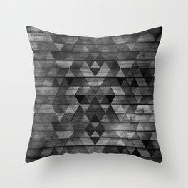 Rustic Wood Argyle Pattern Design Throw Pillow