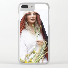 Poppy Gardens Clear iPhone Case