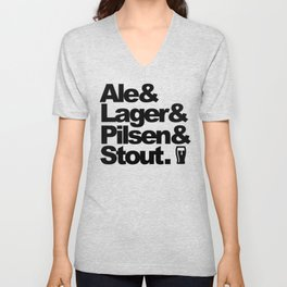 Ale and Lager and Pilsen and Stout Unisex V-Neck