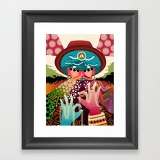 Hypnodellic Framed Art Print