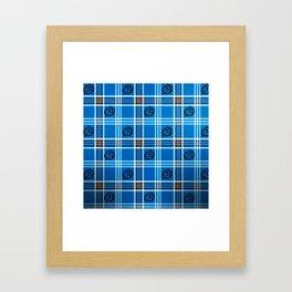 Treky Plaid Framed Art Print