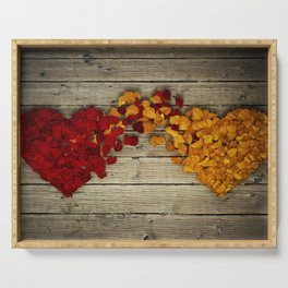 two hearts Serving Tray