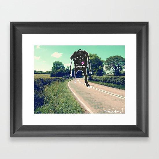 I love open roads Framed Art Print