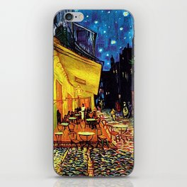 Café Terrace at Night Painting by Vincent van Gogh iPhone Skin