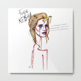 Dancing With The Devil #FreeKesha Metal Print