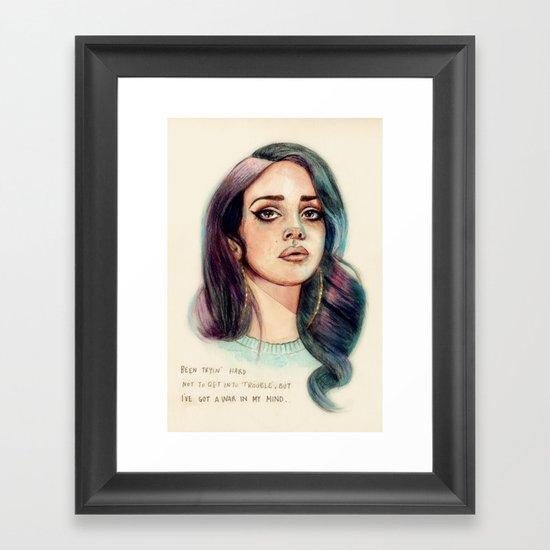 I've Got A War In My Mind Framed Art Print