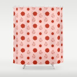 Ladybug in pink Shower Curtain