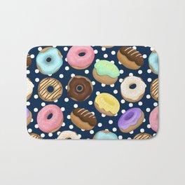 Donuts Love Pattern Bath Mat