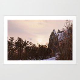 Scarborough Bluffs in Winter on December 27th, 2020. IX Art Print