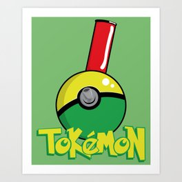 Tokemon GO Art Print