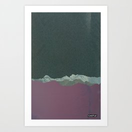 SURFACE #4 // CASTLE Art Print