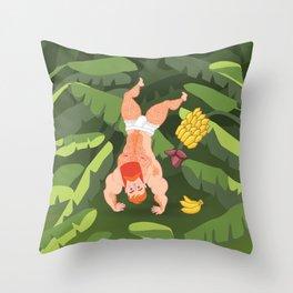 Tropicaralho Throw Pillow